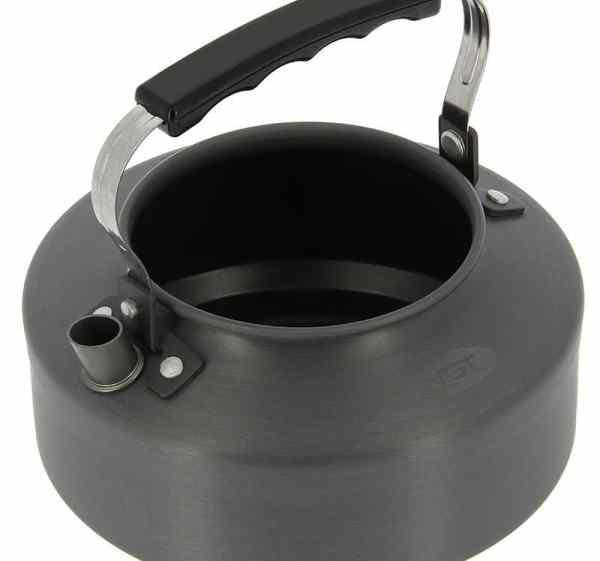 NGT Aluminium Outdoor Kettle - 1.1 litre Gun Metal