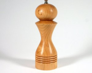 wood turning a pepper mill