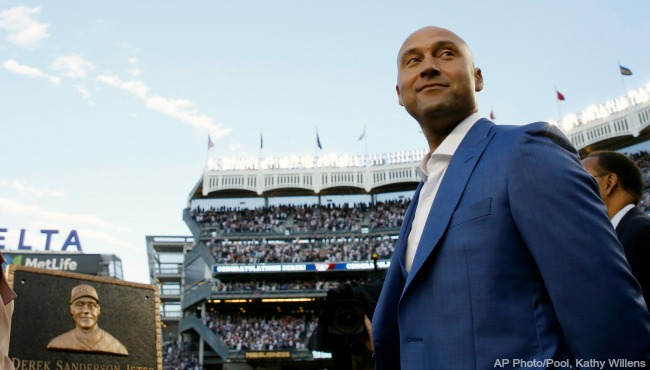 New York Yankees Derek Jeter plaque 051417 AP_337486