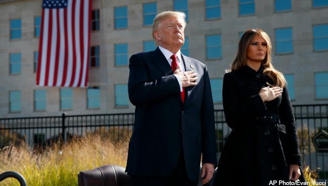 Donald Trump Melania Trump September 11 AP 091117_398762