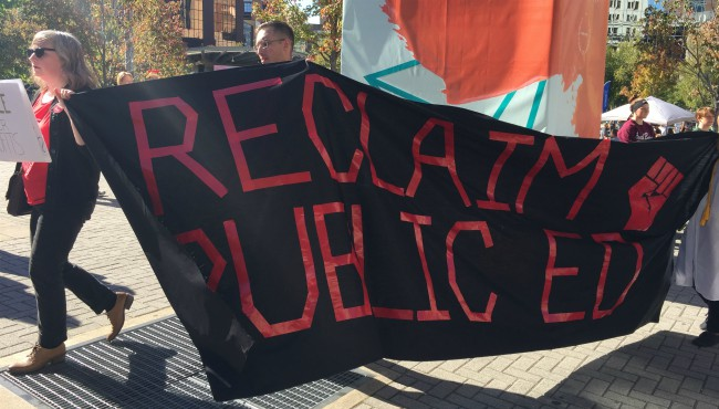 Betsy DeVos protest ArtPrize 100817 2_413523