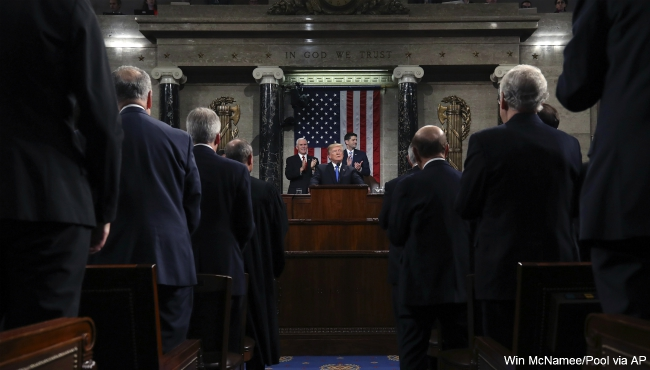 President Donald Trump state of the union 013018_469547