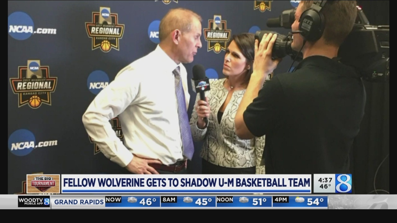 Fellow Wolverine gets to shadow U of M basketball team