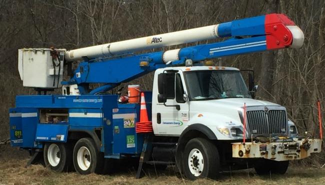 generic consumers energy repair truck 2