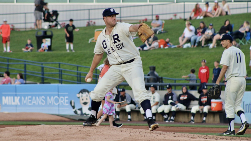 West Michigam Whitecaps in Grand Rapids Black Sox uniforms