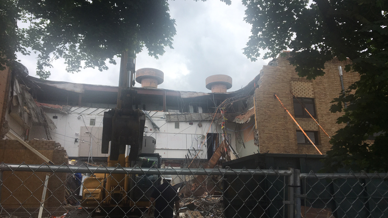 Lee Middle & High School collapse damage
