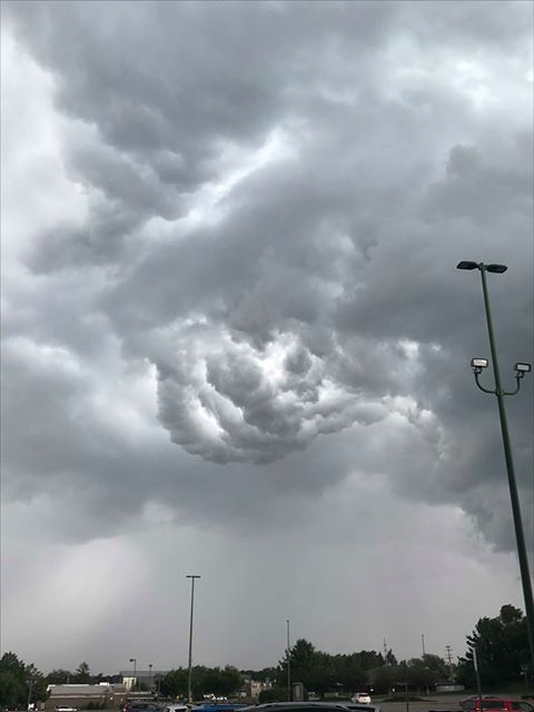 Clouds loom over Rockford on July 20, 2019. (Courtesy of Kristin Bell Kauffman)