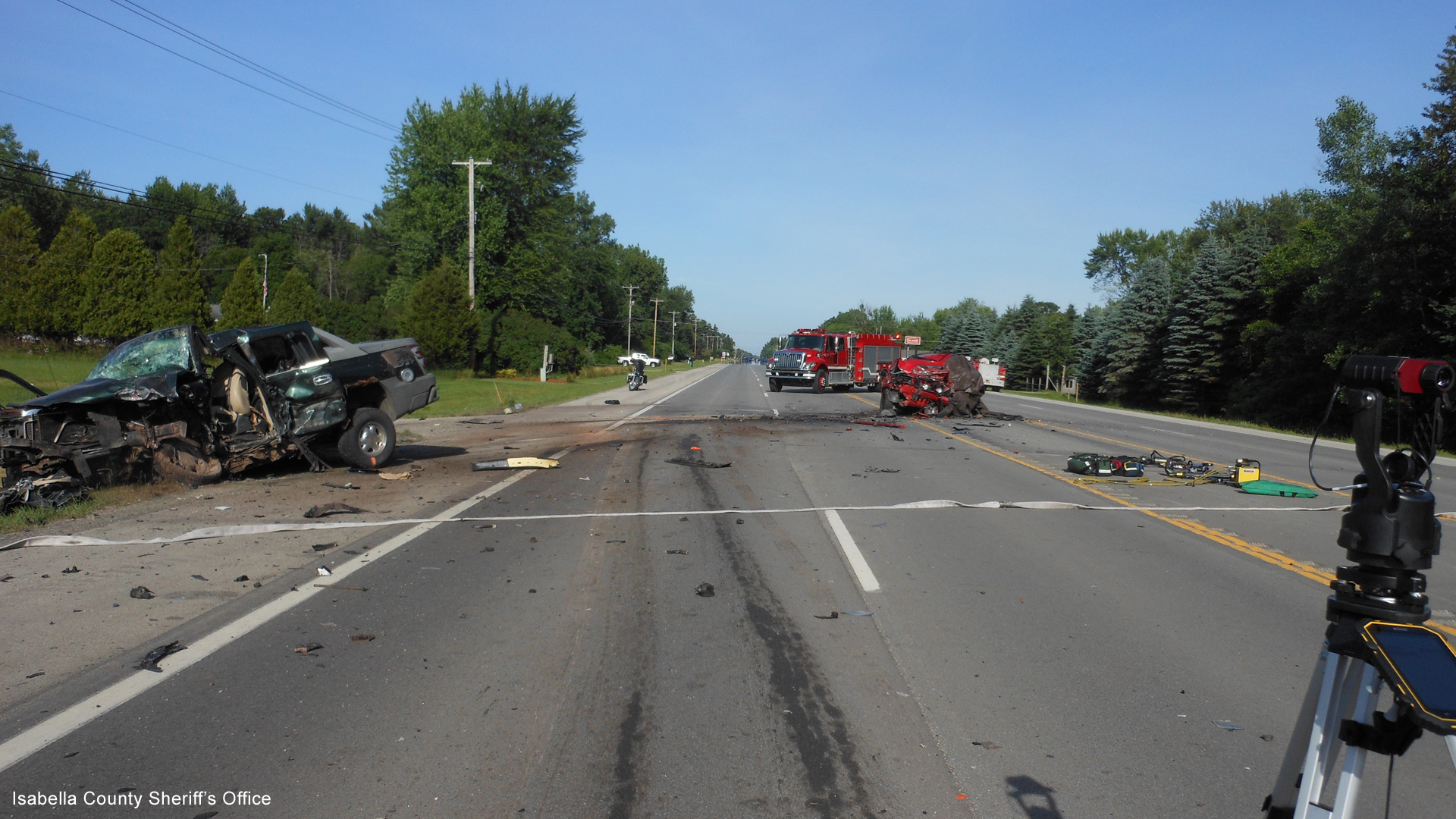 Chippewa Township M-20 crash