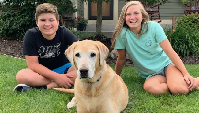 To celebrate National Dog Day, News 8 staffers shared photos of their canines. Above is a photo of Meteorologist Matt Kirkwood's dog, Ellie. The Kirkwood family got the dog during a stage when the kids named everything Ellie, including most of their stuffed animals and fish.