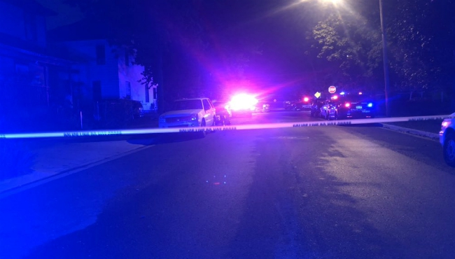 A photo of a shooting near Ionia Avenue SW and Shelby Street. (Sept. 21, 2019)