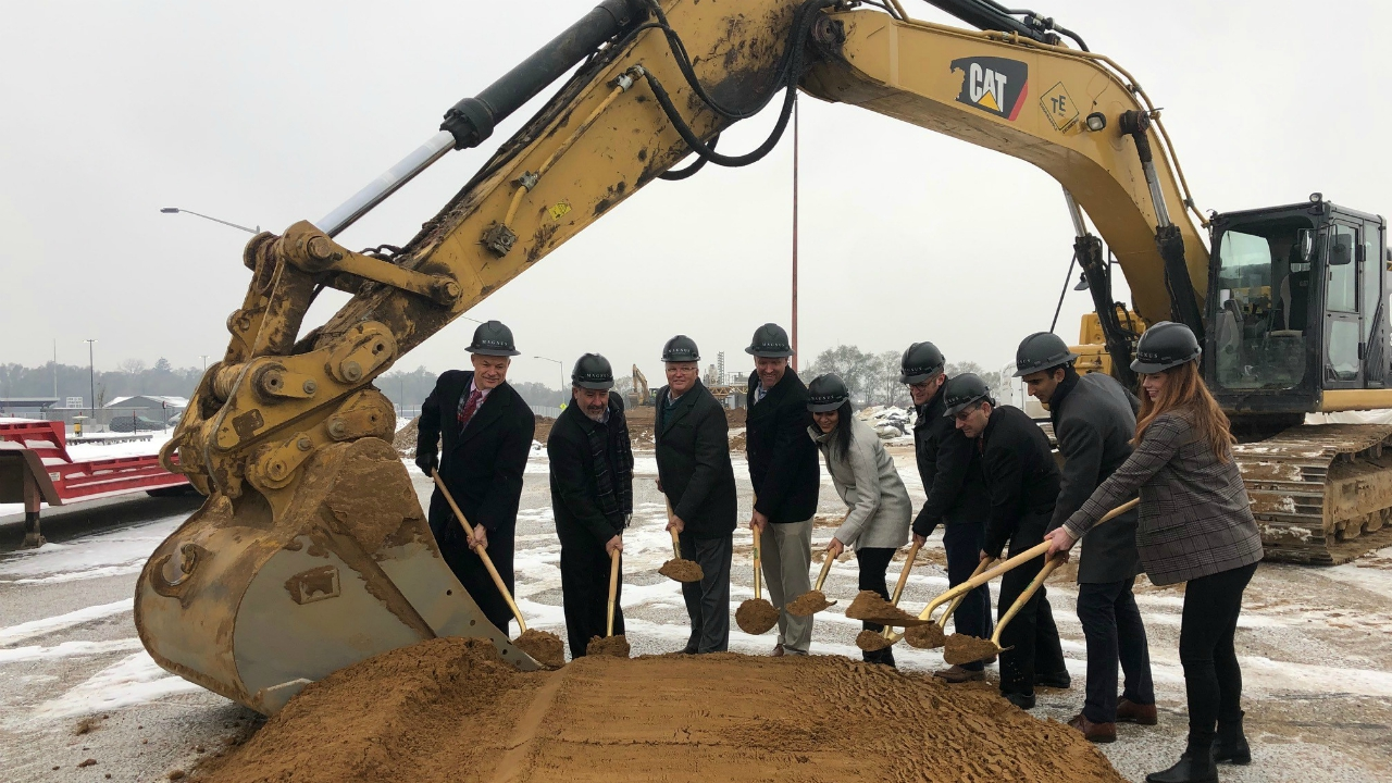 A groundbreaking ceremony at the HŌM Flats in Wyoming Thursday, Nov. 14, 2019.