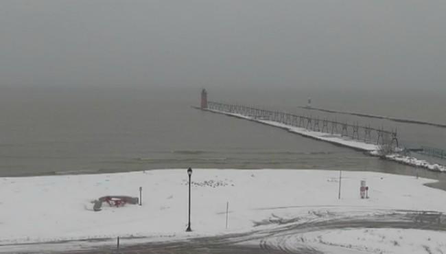 Lake Michigan at South Haven Monday, Nov. 11, 2019.