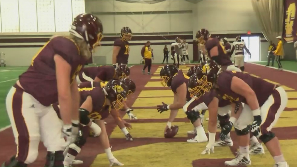 central michigan football practice