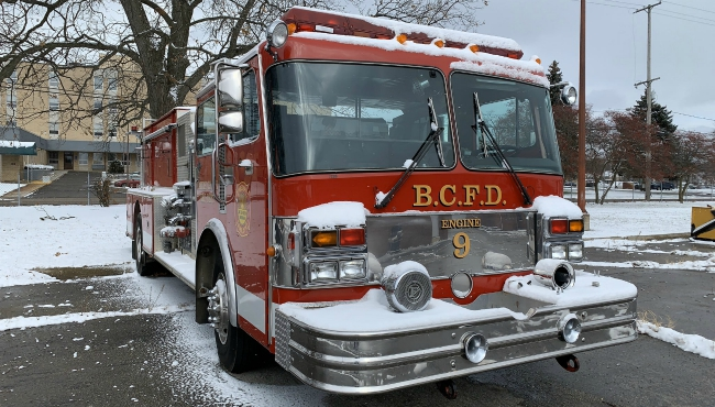 A photo of Battle Creek Fire Department trucks up for auction. (Dec. 10, 2019)
