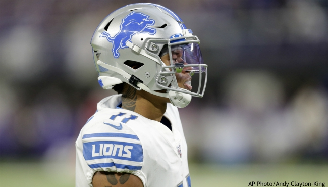 Detroit Lions wide receiver Marvin Jones gets set for a play during the second half of an NFL football game against the Minnesota Vikings, Sunday, Dec. 8, 2019, in Minneapolis. (AP Photo/Andy Clayton-King)