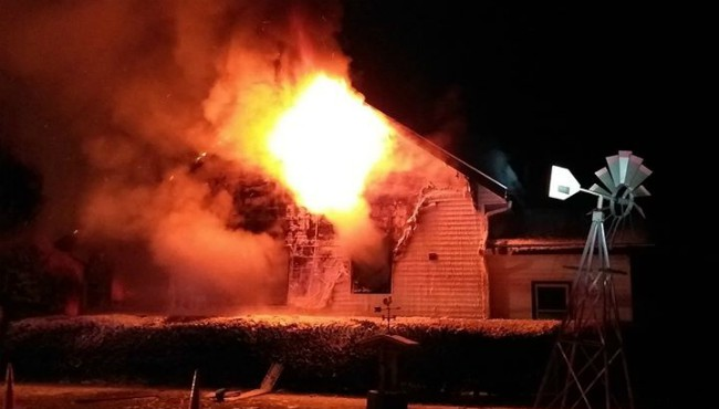 A house fire near Ionia Thursday, Dec. 19, 2019. (Ionia Department of Public Safety)