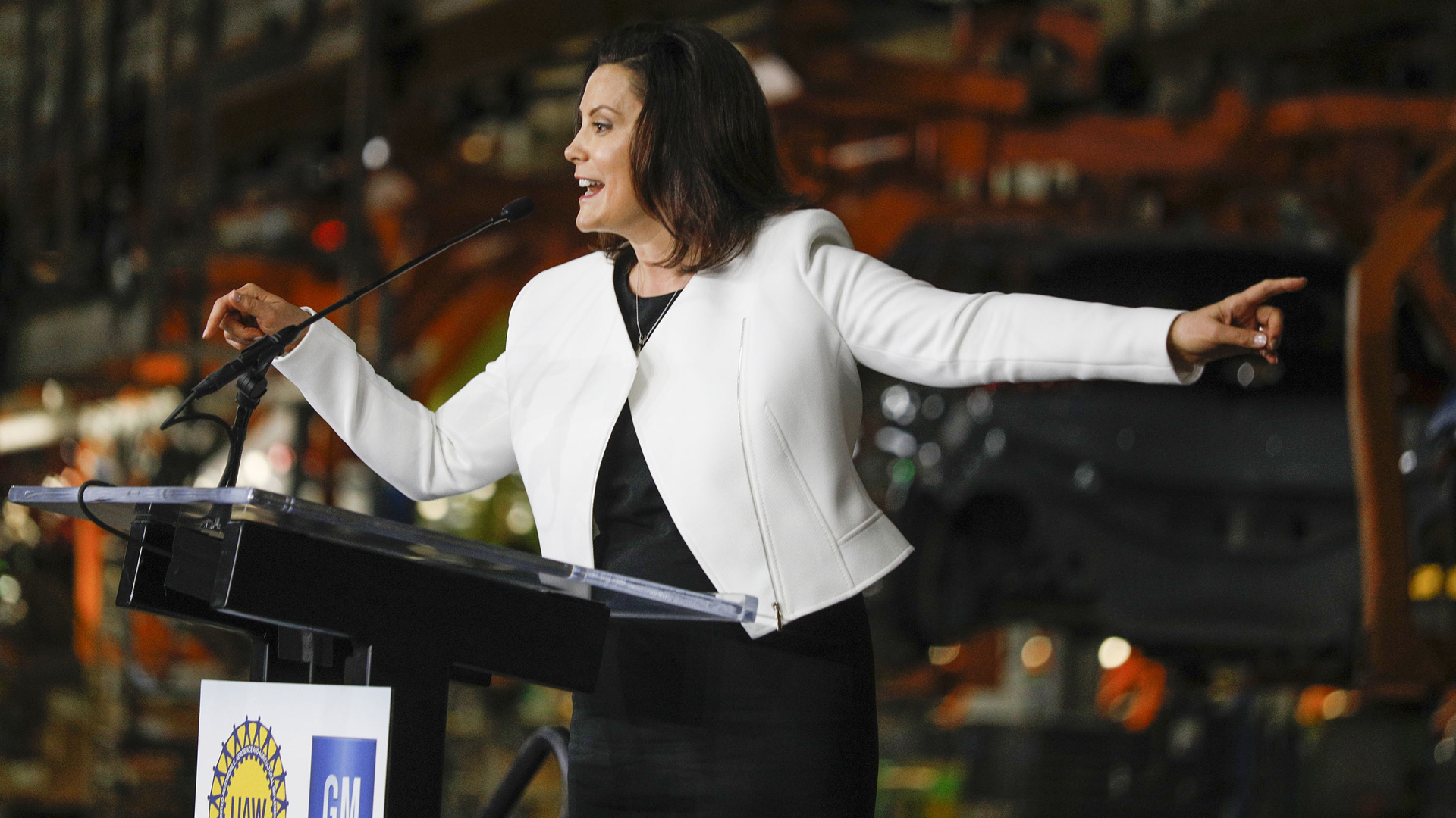Gov. Gretchen Whitmer GM announcement
