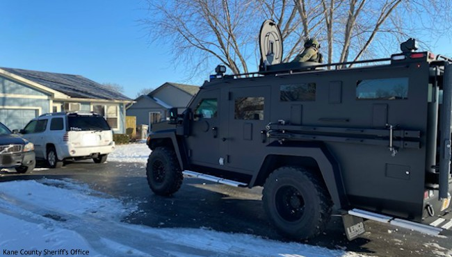 SWAT team in Montgomery, Illinois Tuesday, Jan. 21, 2020. (Kane County Sheriff's Office)