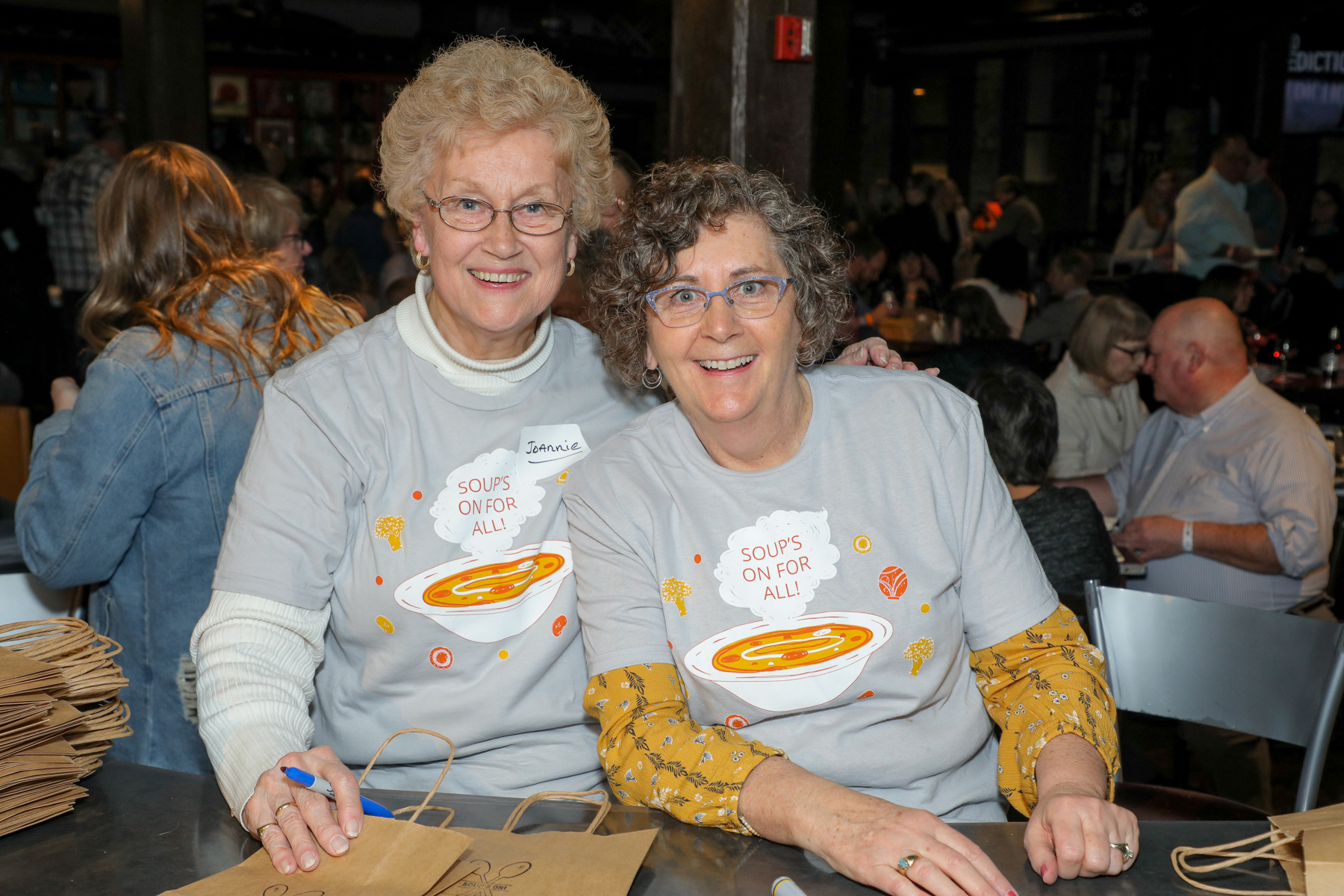 People came to the Soup's On For All event at The B.O.B. in downtown Grand Rapids on Jan. 27, 2020. (Michael Buck/WOOD TV8)