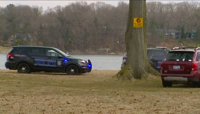 A body was pulled out of Mona Lake in Muskegon Heights on March 24, 2020.