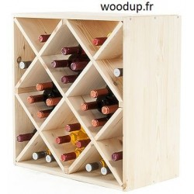etagere range bouteille losange