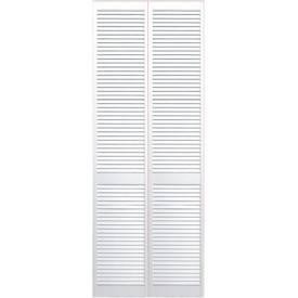 portes de placard pliantes persiennees laquees blanches