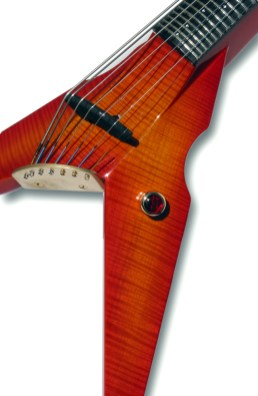 Cherry Burst Tiger Maple Exotic Top