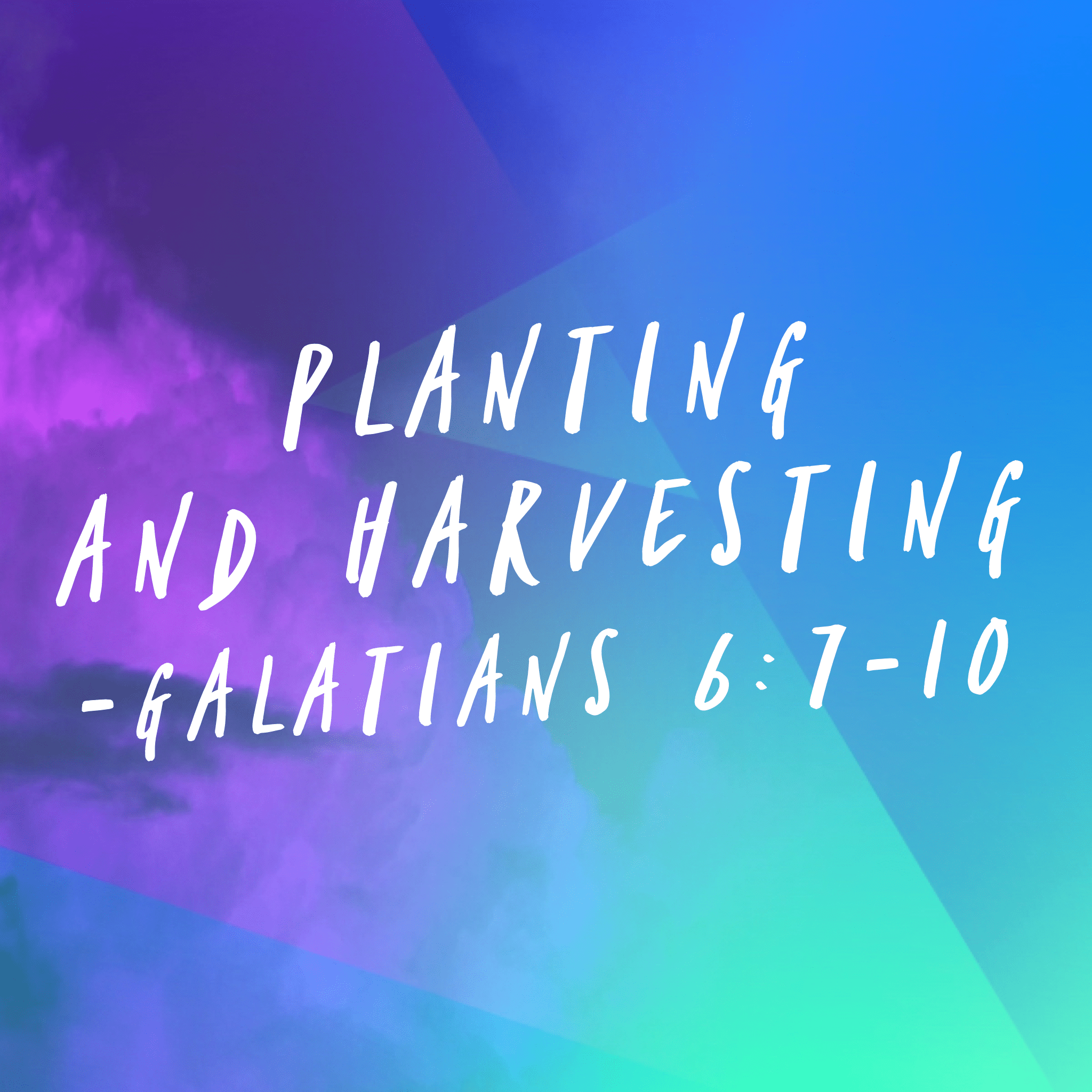 Planting And Harvesting