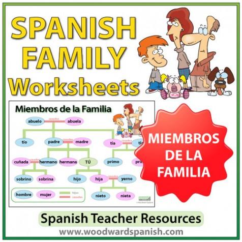 Spanish Family Tree Worksheets Woodward Spanish