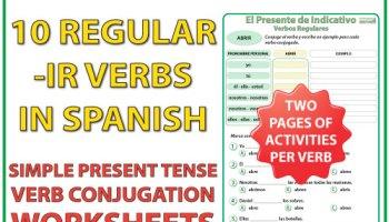 Spanish Present Tense – Regular Verbs Chart   Woodward Spanish
