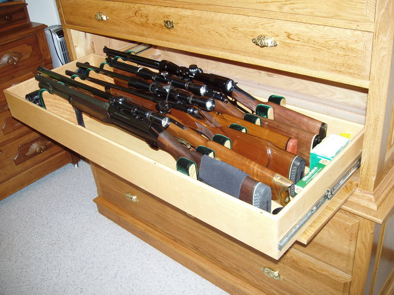 plywood gun cabinet plans