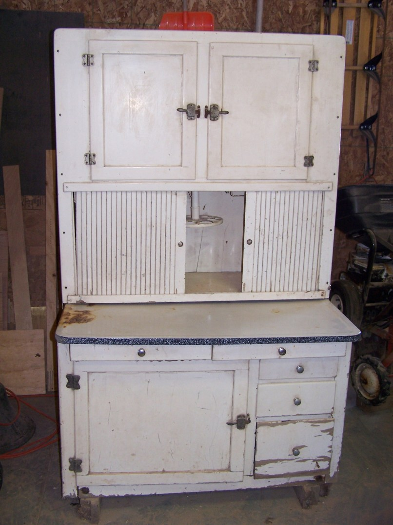 Restoring old hoosier cabinet for Restoring old kitchen cabinets