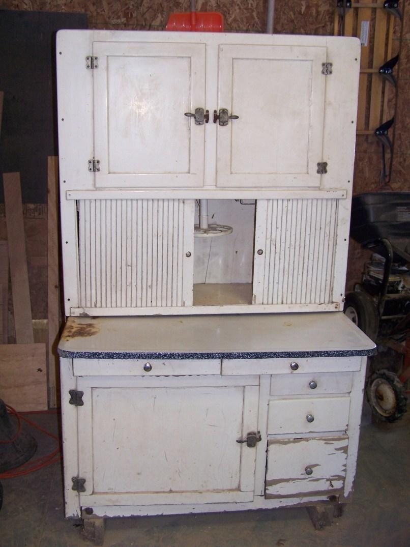 Restoring old hoosier cabinet for Restoring old kitchen cabinets