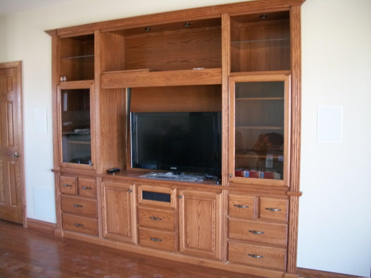 Wood Built In Home Entertainment Center Plans PDF Plans