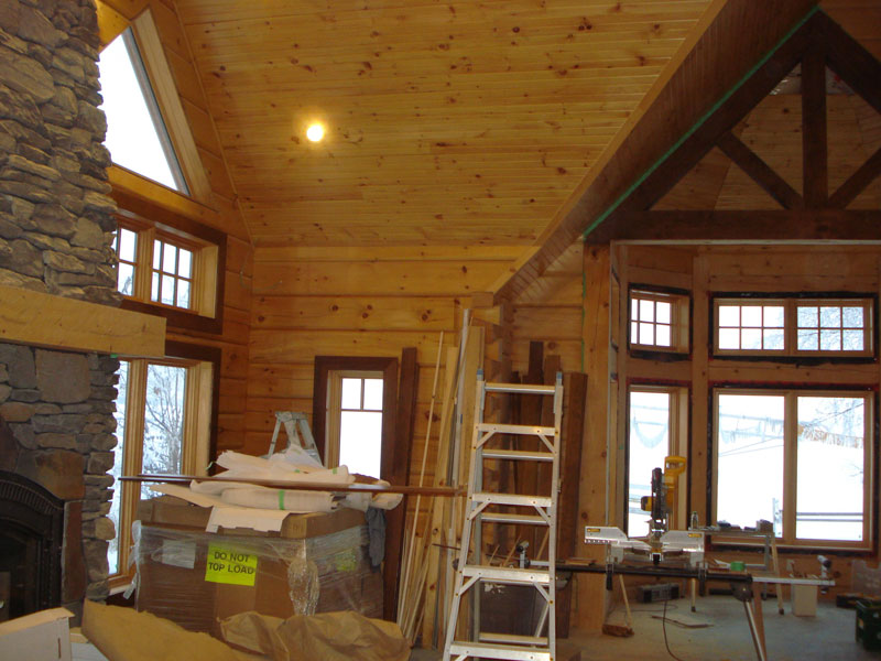 Stained Pine Ceiling Integralbook Com