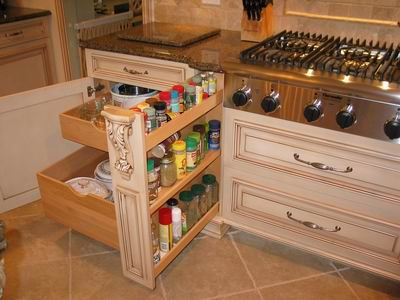 pull out spice rack plans