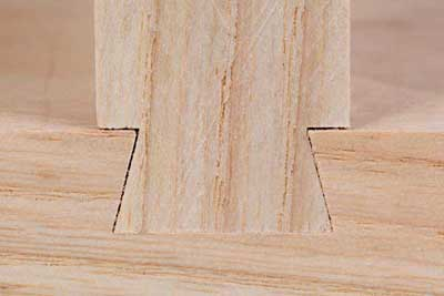 cut sliding dovetail joints