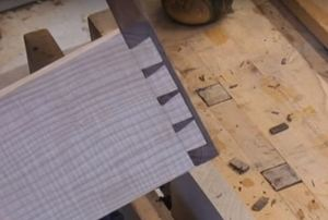 Half-blind dovetail joints