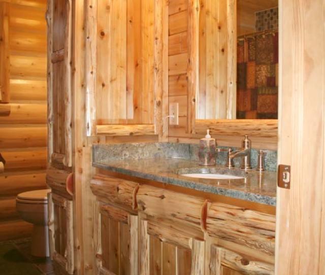 Rustic Cedar Log U Panel Cedar Kitchen Cabinets