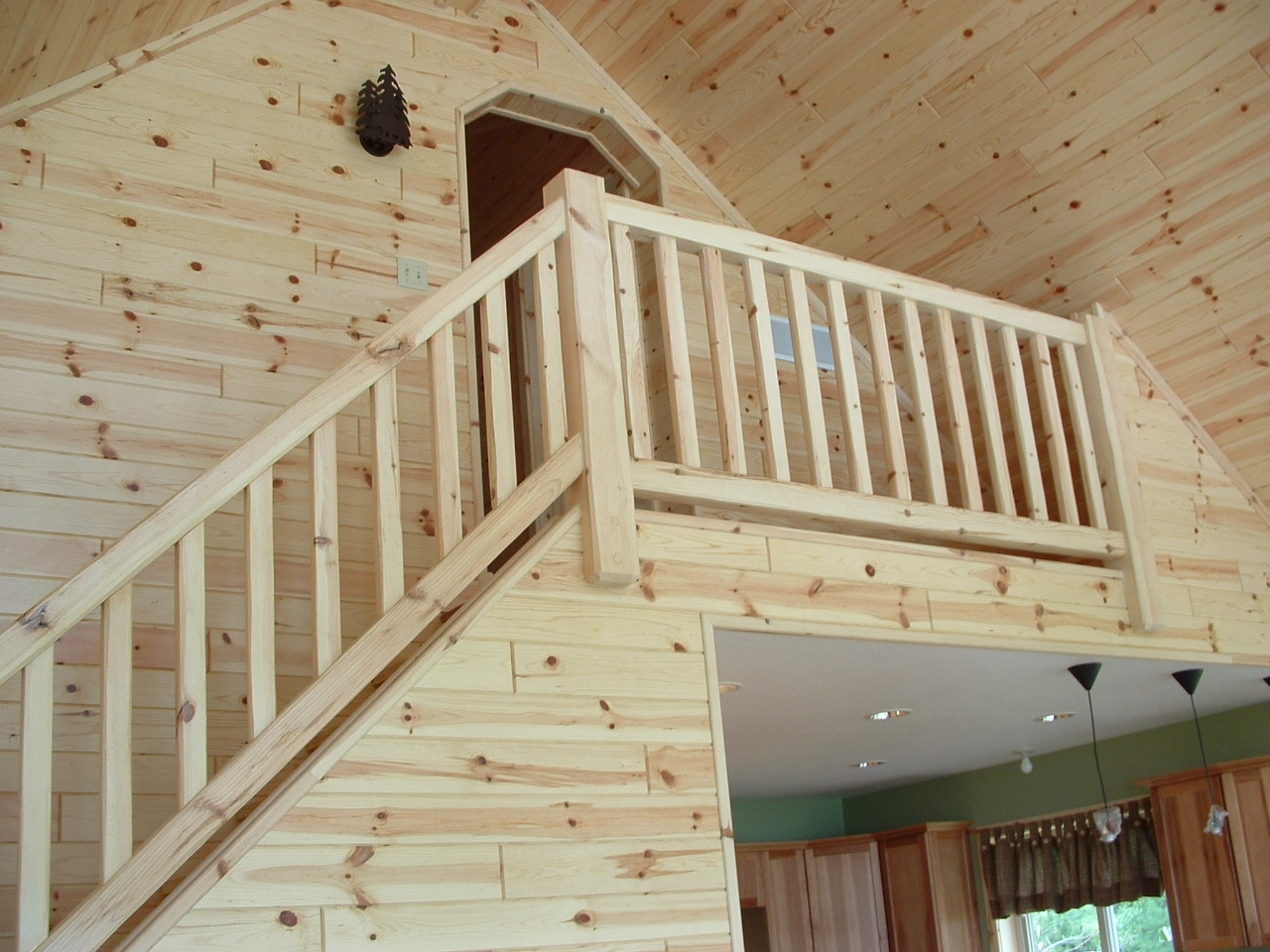 Rustic Wood Stairs And Railings Cedar Pine Staircases   Rustic Handrails For Stairs   Basement   Wooden   Banister   Metal   Deck