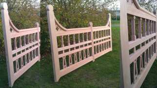 How the Bespoke Victorian style gates turned out