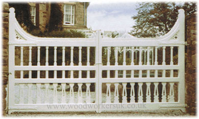 The original bespoke Victorian style gates