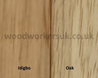 Oak and Idigbo timber sample
