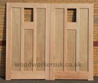 Example of a panelled garage door