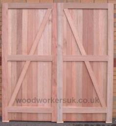 A side hinged garage door