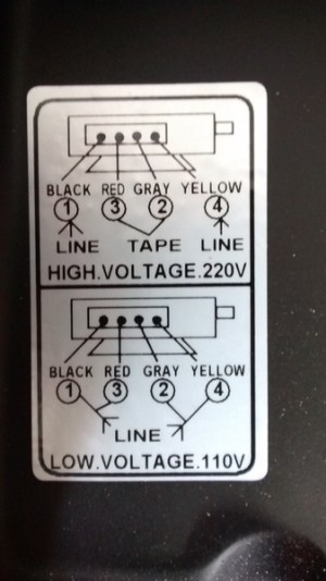 Changing input voltage on motor from 110v to 220v  wiring question  Woodworking Talk