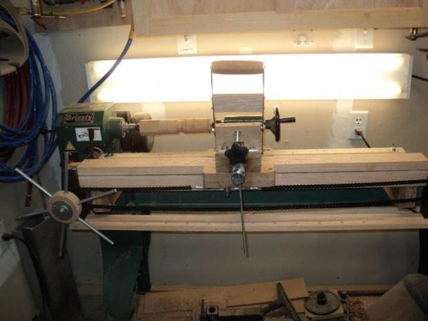 Shop Made Lathe Duplicator Woodworking Talk
