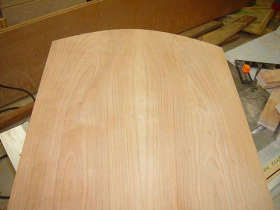 Arched panel cut