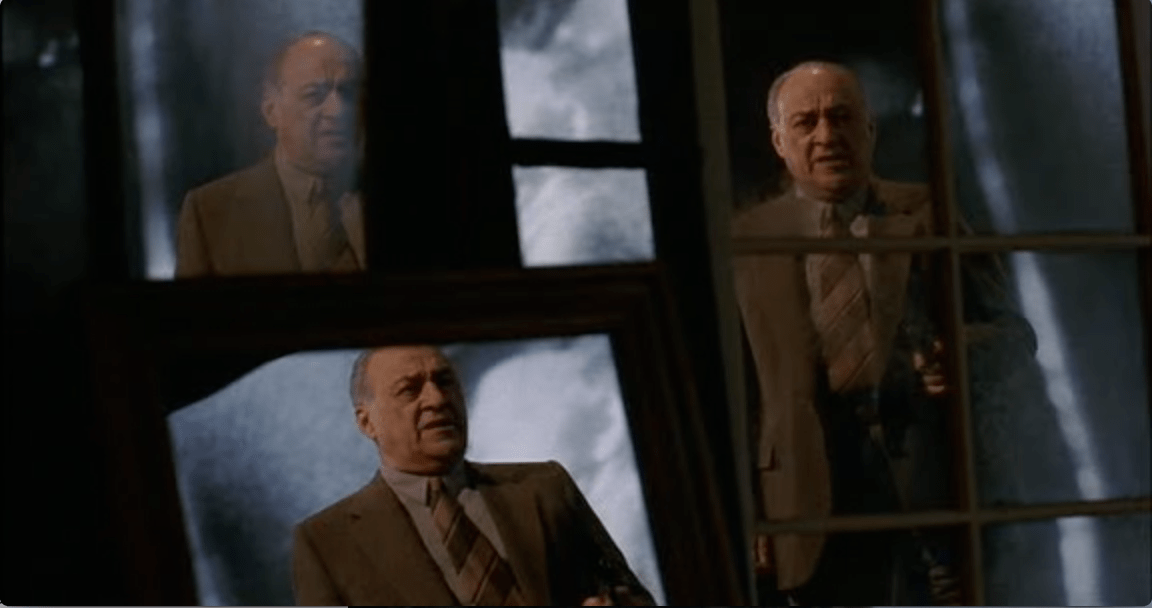 Jerry Adler in the final scene of Manhattan Murder Mystery