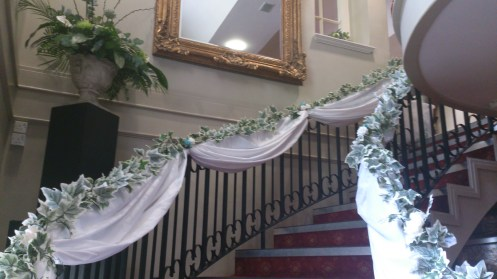Dedcorated staircase at Adlington Hall